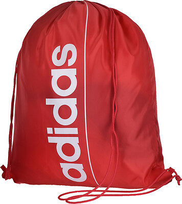adidas Drawsrtring Sports Bag Essentials Red Polyester Gym Swimming Sack Holdall