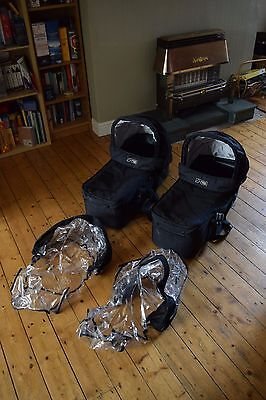 Mountain Buggy Duet Carrycots x2