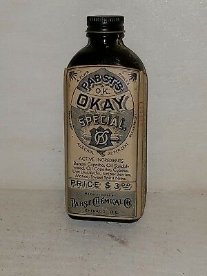 Pabst's Okay Special Medicine Bottle Pabst Chemical Co