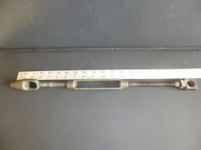 "Large Heavy Duty Vintage Turnbuckle 1/2"" Bolts Extends from 15"" to 19 1/2"""