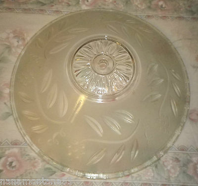 """Antique-Art Deco-Clear & Frosted Glass Shade Ceiling Light Fixture Cover-12"""""""