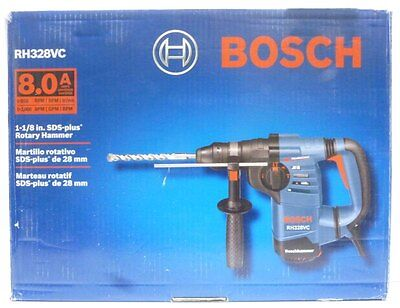 "BOSCH RH328VC 1-1/8"" SDS Plus Rotary Hammer w/Hard Carrying Case ""FREE SHIPPING"""