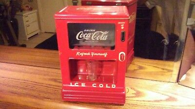 LineMar Marx Coke Coca Cola Drink Dispenser Battery Operated Coin Bank  Working!