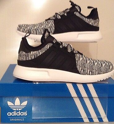 0a8a4b8397f Authentic Adidas X Plr Trainers Black-White Knit  Bb2899  Sizes From Uk 6 -