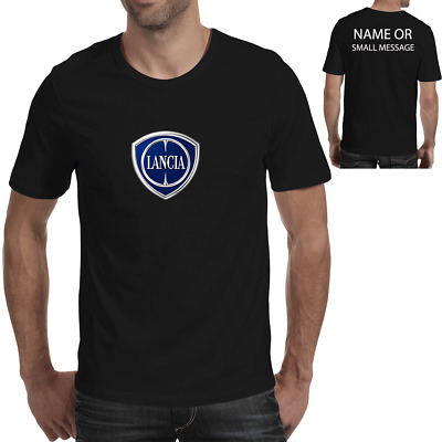 Lancia inspired T shirt Personalised  Auto Logo Car Motor Gift 8 colours