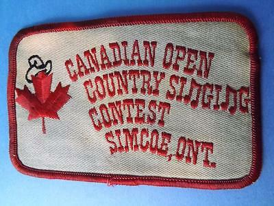 Canadian Open Country Singing Contest Patch Vintage Simcoe Ontario