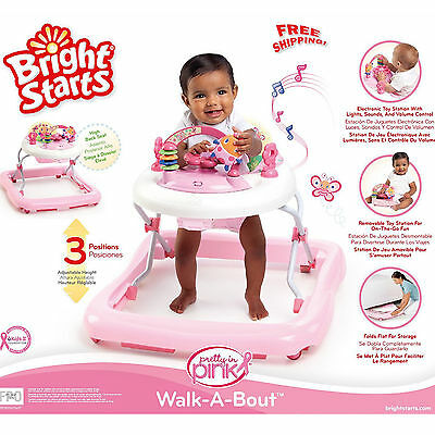 Infant Baby Girl Activity Center Assistant Jumper Walk Stand Activity Seat Toy