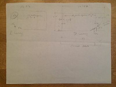 WRIGHT BROTHERS - Original Wright Flyer Drawing, assistance by Orville Wright