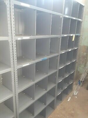"""Grey Metal Shelving approx 36"""" wide 18"""" deep and 84"""" high"""