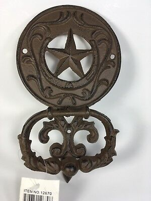 Cast Iron STAR OF TEXAS Door Knocker Rustic Western Decor Country New With Tags
