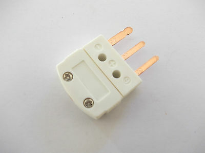 Rtd Connector 3 Pin Plug , Flat Pin Type