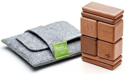 New Tegu Pocket Pouch Magnetic Travel Blocks  - Mahogany Childrens Toy