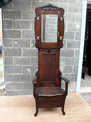 ANTIQUE OAK HALL SEAT ORGINAL FINISH-SELLING OUT Make Offer