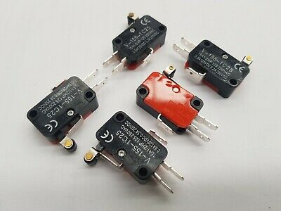 3pcs ROLLER LEVER / SNAP ACTION TYPE LIMIT MICRO SWITCH 250VAC  10A