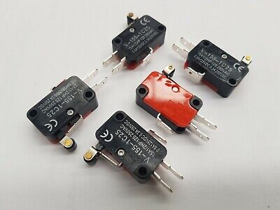 5pcs ROLLER LEVER / SNAP ACTION TYPE LIMIT MICRO SWITCH 250VAC  10A