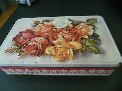 Vintage Griffiths Sweets Confectionary/ Biscuit Tin- Roses