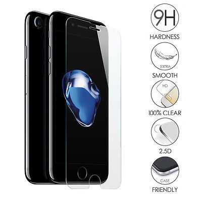 """2X New Premium Real Tempered Glass Film Screen Protector for Apple iPhone 7 4.7"""""""