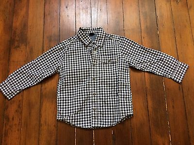 Baby Gap toddler 5 years plaid button down shirt long sleeve blue, red, white