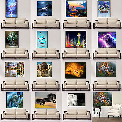 5D Diamond Painting Embroidery Cross Stitch DIY Art Decor Crafts Living Room