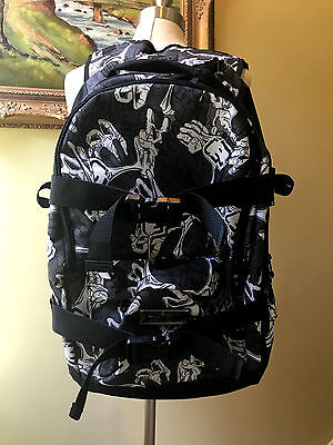 Planet Eclipse Gravel Paintball Backpack Gear Laptop Bag Stretch White Black EUC