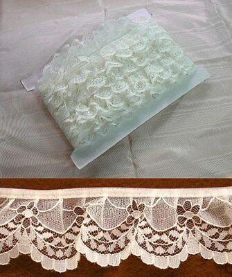 Gathered  Lace Cream 20 metres (360)