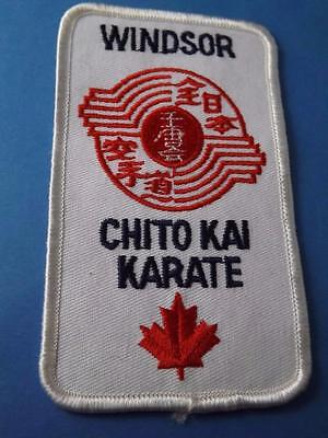 Chito Kai Karate  Patch Windsor Ont Canada Club Logo Member Vintage Collector