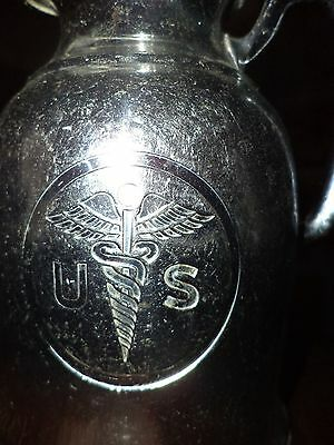 ANTIQUE US CADUCEUS WATER PITCHER SILVER THERMOS LANDERS PRARY CLARK hotel