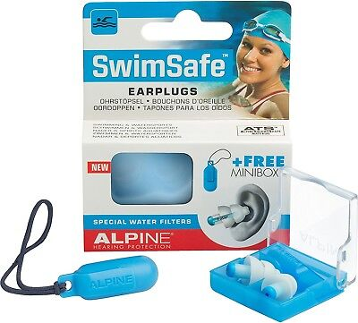 Alpine SwimSafe - Ear Plugs For Swimming and Keep Water Out, Free Miniboxx