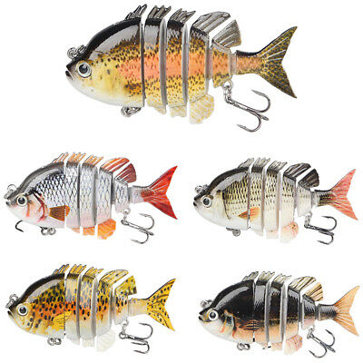 Sea Fishing Lure Multi Jointed 6 Sections Swimbait Bait Tackle 0.5oz/14g/8cm