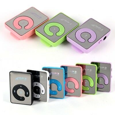 6 colors Mp3 Music Player Mini USB Clip Digital Mp3 Support 8GB TF Card Gift