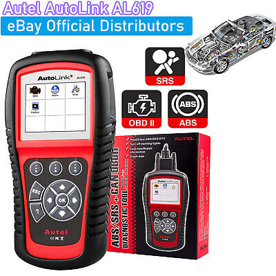 Autel AL619 Autolink OBD2 Diagnostic Tool CAN OBDII ABS Airbag Fault Code Reader