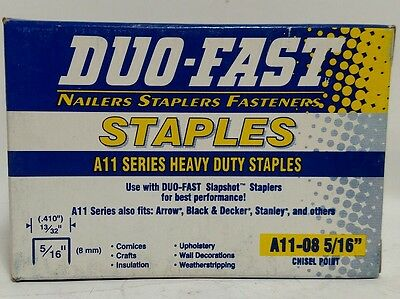 "Duo-Fast A11-08  5/16"" Chisel Point Staples, 5000 Ct.  Heavy Duty"