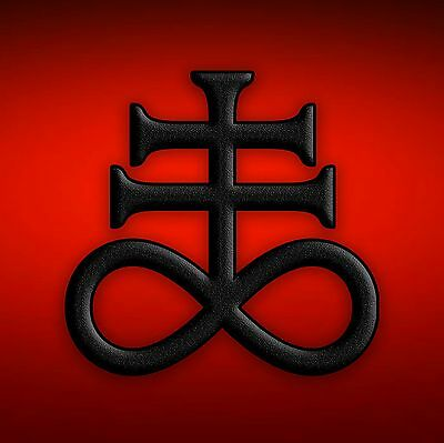 Satanic Cross Red Devil Heavy Metal Sticker, Magnet