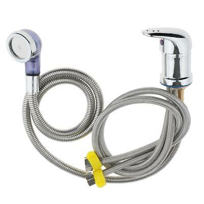 Beauty Salon Shampoo Bowl Sink Replacement Faucet Spray Hose Hot Cold Supply