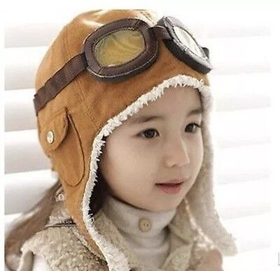 Winter Baby Toddler Boy Girl Kids Pilot Aviator Warm Cap Hat Beanie