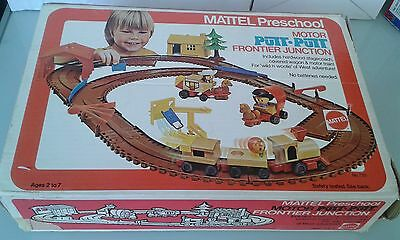 1972 Mattel Motor Putt Putt Frontier Junction train set