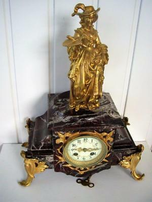 Victorian French Marble 8 Day Striking Clock.In Good Working Order.