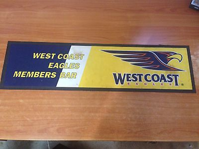AFL West Coast Eagles Members Bar Rubber Bar Mat