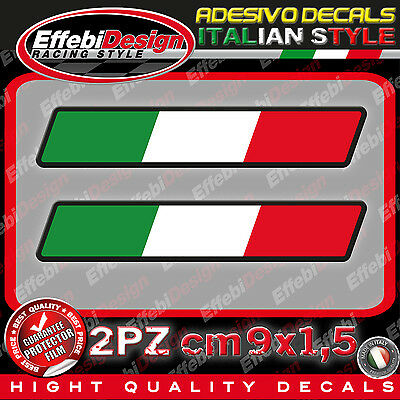 Adesivi / Sticker ITALY ITALIA FLAG BANDIERA AUTO 2PZ TOP QUALITY SUPER PROMO !!
