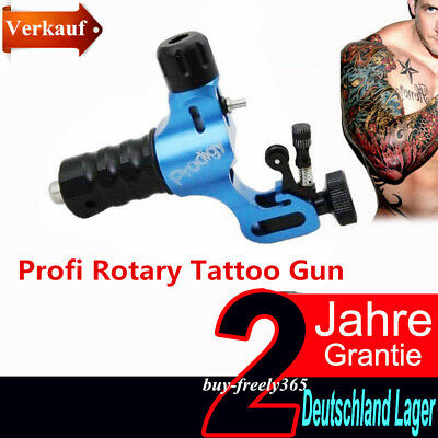 Profi Rotary Tattoomaschine Gun Adjustable Shader Liner Tattoo Maschine Blau DE