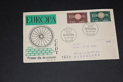 Spain 1960 Europa Illustrated First Day Cover