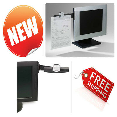 Monitor Mount Document Clip Office School Files Paper Page Holder Stand Black
