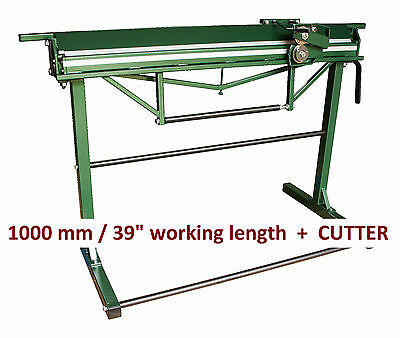 "Lightweight Hand Sheet Metal Folder Bender Bending Brake 1000mm/39"" + CUTTER"