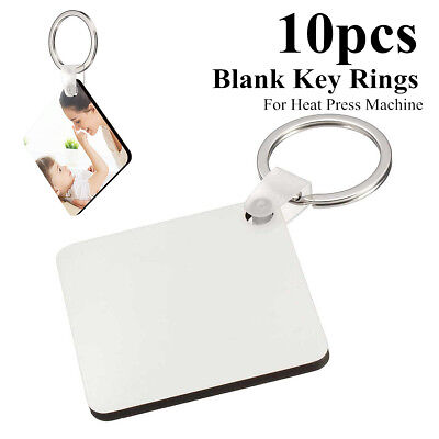 20x Square Blank MDF Board Sublimation Printing Keyrings For Heat Press Machine