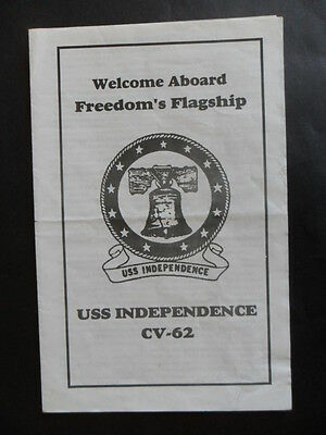 US Navy USS INDEPENDENCE (CV -62) welcome aboard 1980s