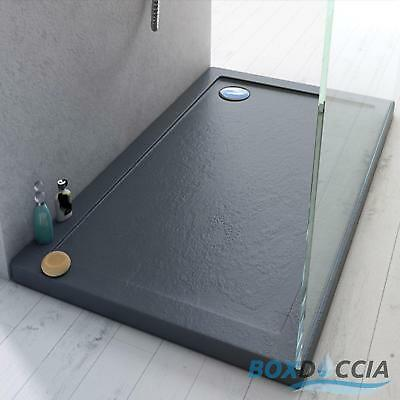 Shower Tray Enclosure Acrylic Ultra Slim Effect Stone 40Mm