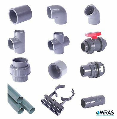 Metric Grey PVC Pressure Pipe and Fittings 20mm-75mm for Marine Aquariums