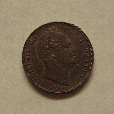Copper Farthing1834 King William Iiii Extremely Fine Grade (Edge Knock)