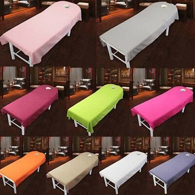 Beauty Massage SPA Treatment Bed Table Cover Sheets+Face Breath Hole 80cm*180cm