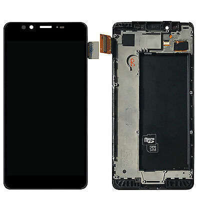 New Black LCD Display Touch Digitizer Assembly Frame For  Microsoft Lumia 950